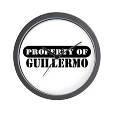 Property of Guillermo Wall Clock