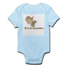 I DO ALL MY OWN EXPERIMENTS Infant Bodysuit