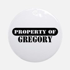 Property of Gregory Ornament (Round)