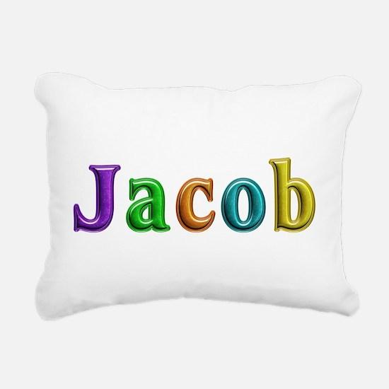 Jacob Shiny Colors Rectangular Canvas Pillow