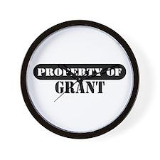 Property of Grant Wall Clock