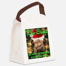 Dear Santa Hump Day Camel Canvas Lunch Bag
