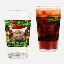 Dear Santa Hump Day Camel Drinking Glass