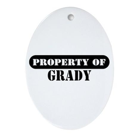 Property of Grady Oval Ornament