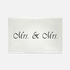 Mrs. & Mrs. - Lesbian Marriage Rectangle Magnet