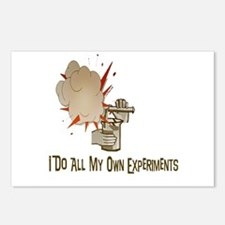 I DO ALL MY OWN EXPERIMENTS Postcards (Package of