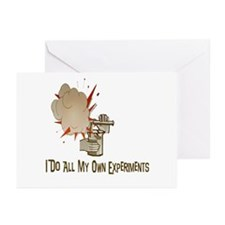 I DO ALL MY OWN EXPERIMENTS Greeting Cards (Packag