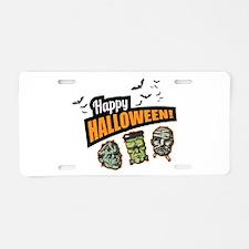 Classic Halloween Aluminum License Plate