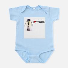 I LOVE [HEART] PENGUINS Infant Bodysuit