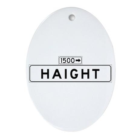 Haight St., San Francisco - USA Oval Ornament