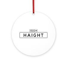 Haight St., San Francisco - USA Ornament (Round)