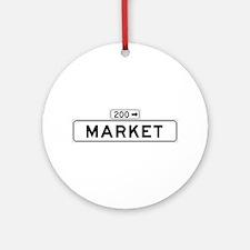 Market St., San Francisco - US Ornament (Round)