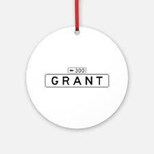 Grant Ave., San Francisco - USA Ornament (Round)