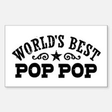 World's Best Pop Pop Sticker (Rectangle)