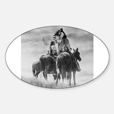 Mounted Warriors Oval Decal