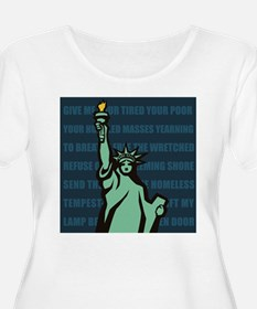 Words of Liberty Plus Size T-Shirt