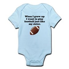 Play Football Like My Sister Body Suit