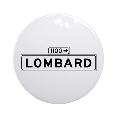 Lombard St., San Francisco - USA Ornament (Round)