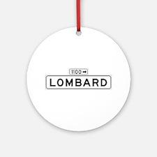 Lombard St., San Francisco - USA Ornament (Round)