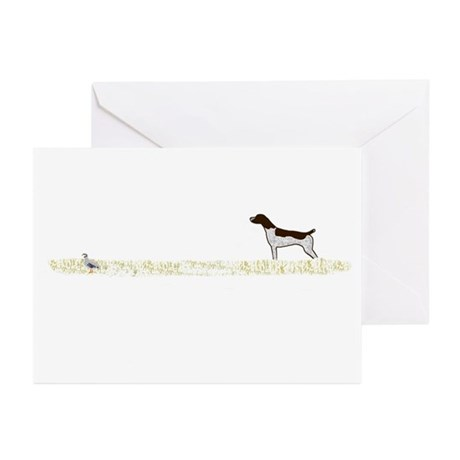 Liver Tick GSP on Chukar Greeting Cards (Pk of 10)