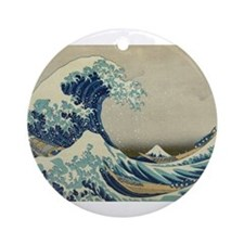 Great Wave by Hokusai Ornament (Round)