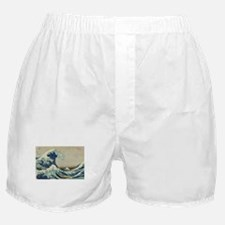 Great Wave by Hokusai Boxer Shorts