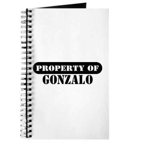 Property of Gonzalo Journal
