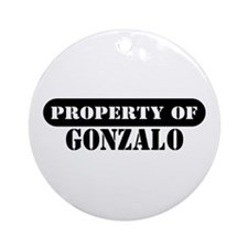 Property of Gonzalo Ornament (Round)