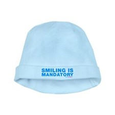 Smiling Is Mandatory baby hat