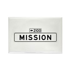 Mission St., San Francisco - USA Rectangle Magnet