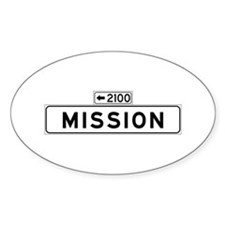 Mission St., San Francisco - USA Oval Decal