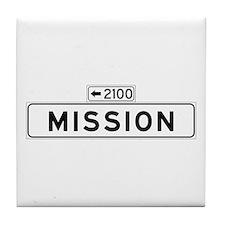 Mission St., San Francisco - USA Tile Coaster
