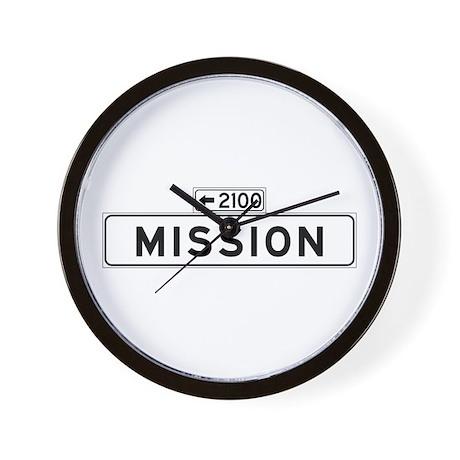 Mission St., San Francisco - USA Wall Clock