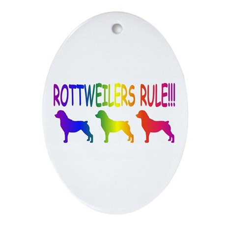 Rottweiler Ornament (Oval)