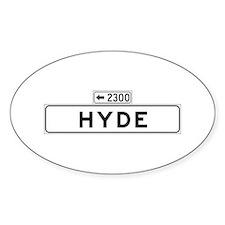 Hyde St., San Francisco - USA Oval Decal