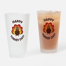 Happy Turkey Day! Drinking Glass