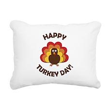 Happy Turkey Day! Rectangular Canvas Pillow
