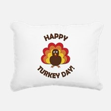 Happy Turkey Day! Rectangular Canvas Pillow
