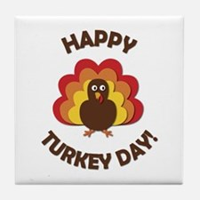 Happy Turkey Day! Tile Coaster