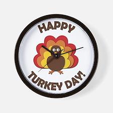 Happy Turkey Day! Wall Clock