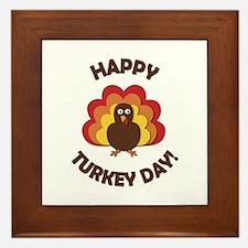 Happy Turkey Day! Framed Tile