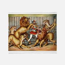 Lion Tamer Throw Blanket