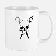 Hair Stylist Skull and Shears Crossbones Mugs