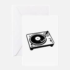 Turntable DJ Greeting Card
