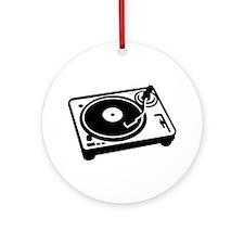 Turntable DJ Ornament (Round)