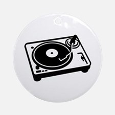 Turntable DJ Ornament (Round)