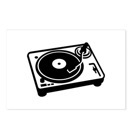 Turntable DJ Postcards (Package of 8)