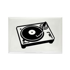 Turntable DJ Rectangle Magnet