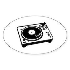 Turntable DJ Decal
