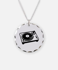 Turntable DJ Necklace